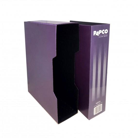 کلیر بوک  پاپکو /200 برگ/  مدل قابدار متالیک
